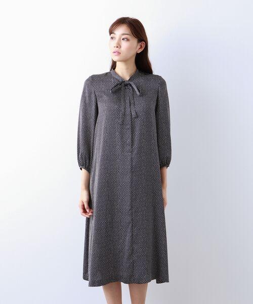 AMACA / アマカ ロング・マキシ丈ワンピース | 【Sサイズ~】小紋プリント ワンピース | 詳細3