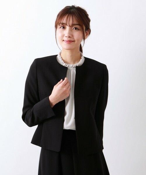 AMACA / アマカ ノーカラージャケット   ◆◆【Precious Collection】MISSIONノーカラージャケット(ブラック)