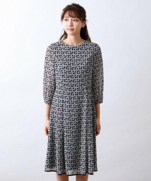 AMACA / アマカ ロング・マキシ丈ワンピース   フレームプリントドレス   詳細3