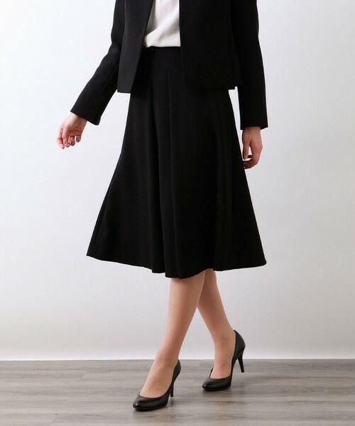 AMACA / アマカ ロング・マキシ丈スカート   【Precious Collection】MISSIONセミフレアースカート(ブラック)