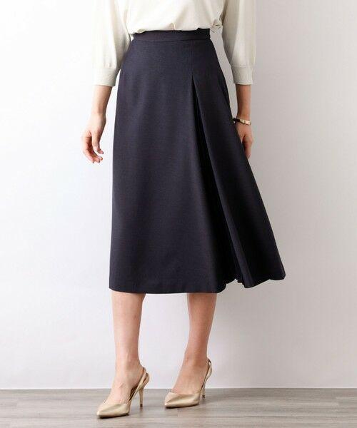 AMACA / アマカ ロング・マキシ丈スカート | トリアセテートドライプラススカート(ネイビー2)