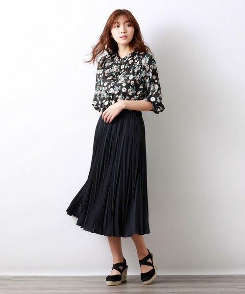 AMACA / アマカ ロング・マキシ丈スカート | パウダーストレッチクレーププリーツスカート | 詳細1