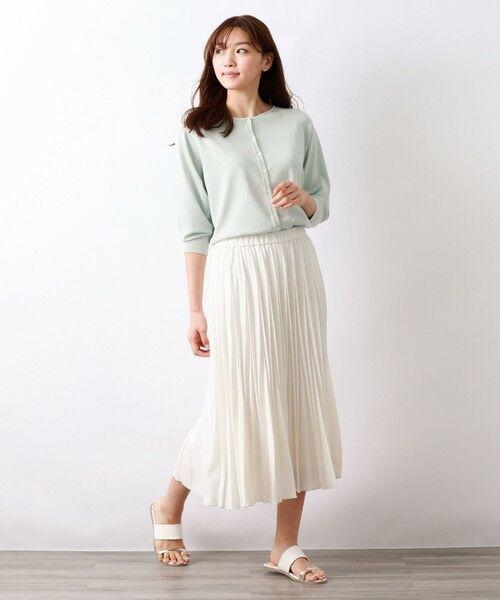 AMACA / アマカ ロング・マキシ丈スカート | パウダーストレッチクレーププリーツスカート | 詳細3
