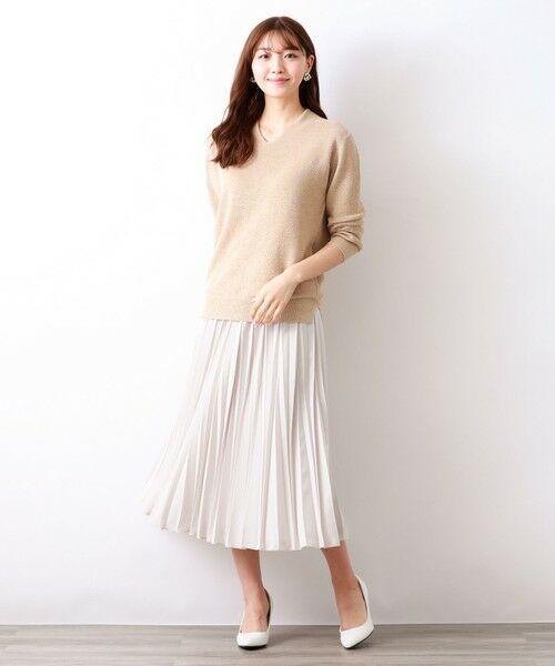 AMACA / アマカ ロング・マキシ丈スカート | パウダーストレッチクレーププリーツスカート | 詳細4