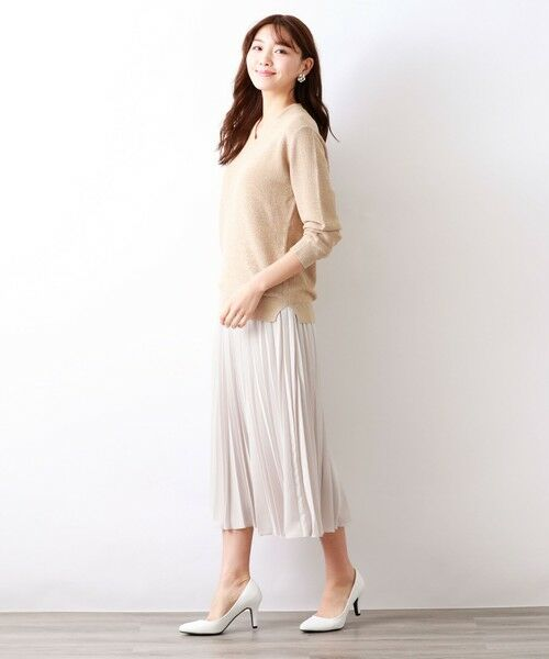AMACA / アマカ ロング・マキシ丈スカート | パウダーストレッチクレーププリーツスカート | 詳細5