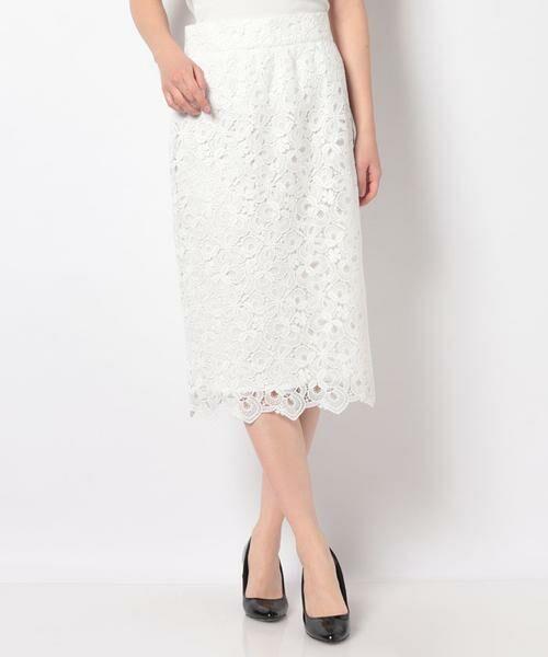 ANAYI / アナイ スカート | モザイクフラワーレースタイトスカート | 詳細1