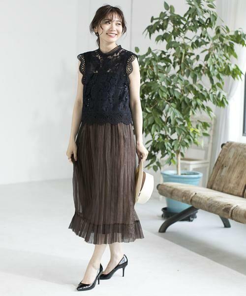 ANAYI / アナイ スカート | シルクオーガンジープリーツスカート | 詳細15