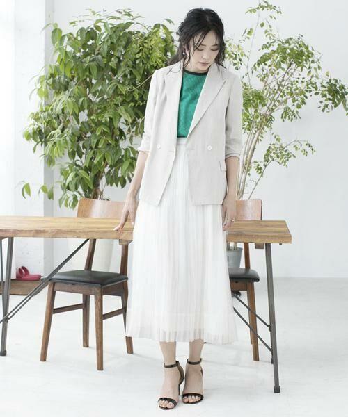 ANAYI / アナイ スカート | シルクオーガンジープリーツスカート | 詳細21