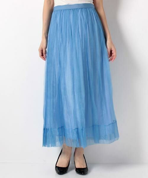 ANAYI / アナイ スカート | シルクオーガンジープリーツスカート(サックス3)