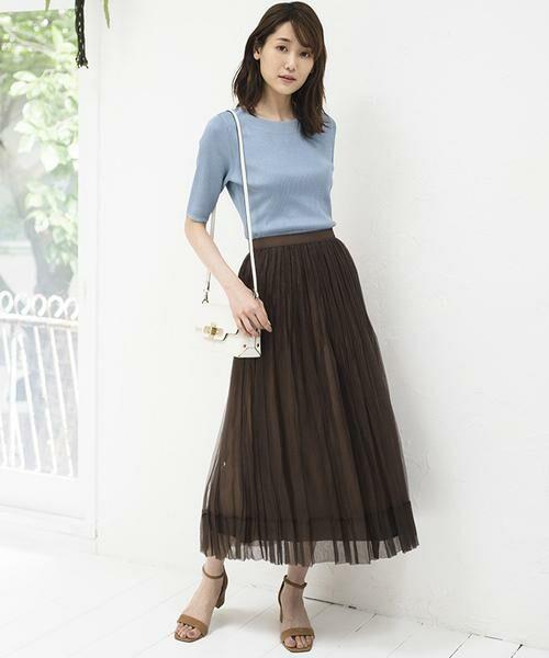 ANAYI / アナイ スカート | シルクオーガンジープリーツスカート | 詳細24