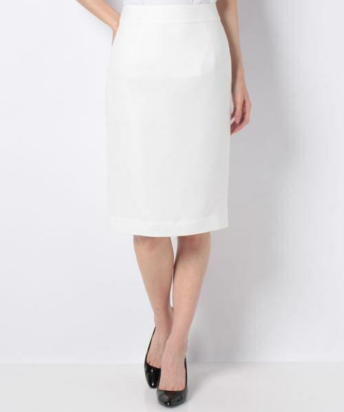 ANAYI / アナイ スカート | バスケットストレッチタイトスカート(ホワイト1)