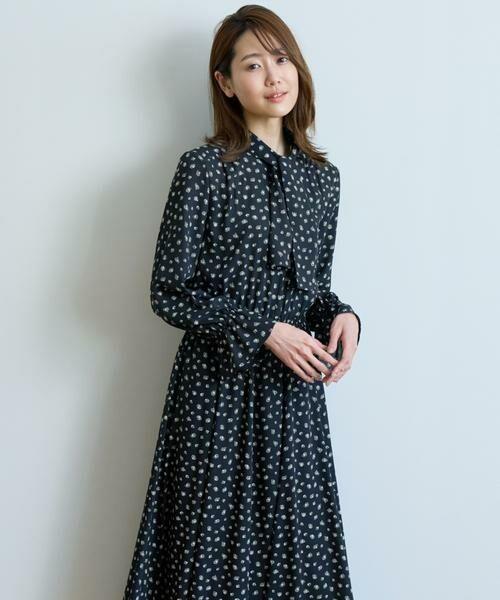 ANAYI / アナイ ワンピース | モノトーンプリントフレアワンピース | 詳細24