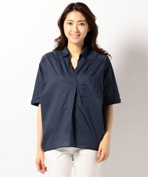 any FAM / エニィファム シャツ・ブラウス | 超長綿オーガニックローン スキッパーシャツ(ビックシルエット) | 詳細1