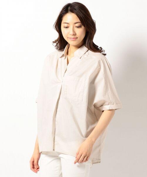 any FAM / エニィファム シャツ・ブラウス | 超長綿オーガニックローン スキッパーシャツ(ビックシルエット) | 詳細3