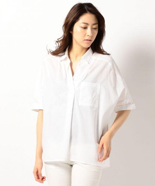any FAM / エニィファム シャツ・ブラウス | 超長綿オーガニックローン スキッパーシャツ(ビックシルエット) | 詳細2