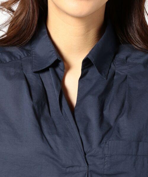 any FAM / エニィファム シャツ・ブラウス | 超長綿オーガニックローン スキッパーシャツ(ビックシルエット) | 詳細7
