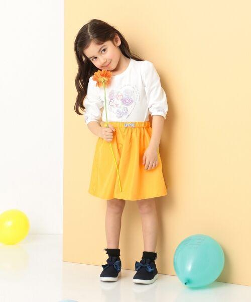 any FAM / エニィファム Tシャツ   【SCHOOL】40/2天竺 ブーケプリント Tシャツ   詳細1
