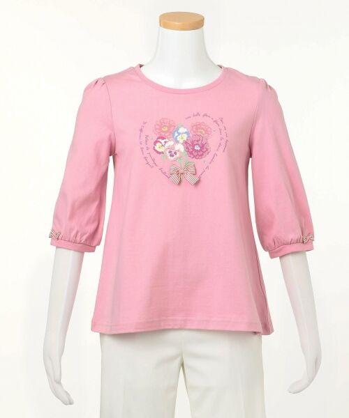 any FAM / エニィファム Tシャツ   【SCHOOL】40/2天竺 ブーケプリント Tシャツ   詳細7