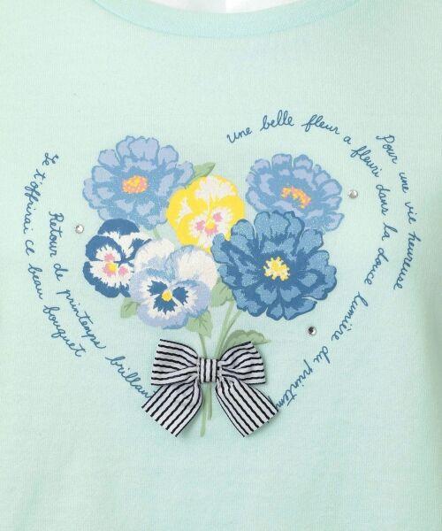 any FAM / エニィファム Tシャツ   【SCHOOL】40/2天竺 ブーケプリント Tシャツ   詳細12
