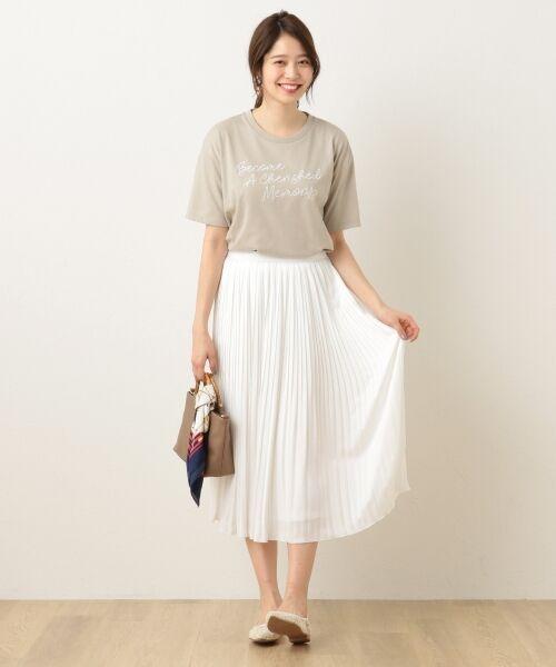 any FAM / エニィファム ミニ・ひざ丈スカート | ヴィンテージサテン プリーツスカート | 詳細2