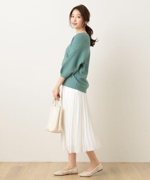 any FAM / エニィファム ミニ・ひざ丈スカート | ヴィンテージサテン プリーツスカート | 詳細4
