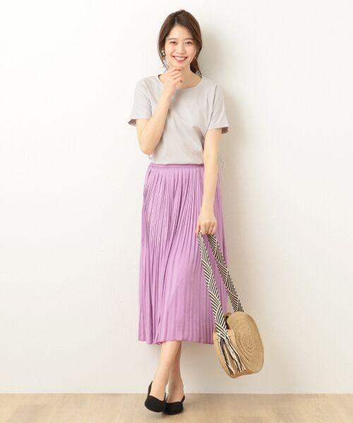 any FAM / エニィファム ミニ・ひざ丈スカート | ヴィンテージサテン プリーツスカート | 詳細7
