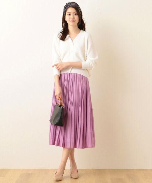 any FAM / エニィファム ミニ・ひざ丈スカート | ヴィンテージサテン プリーツスカート(ピンク系)