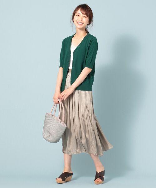 any FAM / エニィファム ミニ・ひざ丈スカート | ヴィンテージサテン プリーツスカート | 詳細10