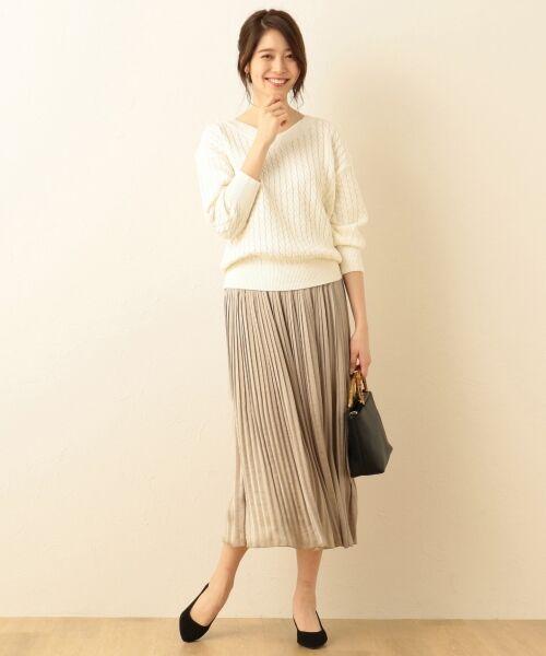 any FAM / エニィファム ミニ・ひざ丈スカート | ヴィンテージサテン プリーツスカート | 詳細11
