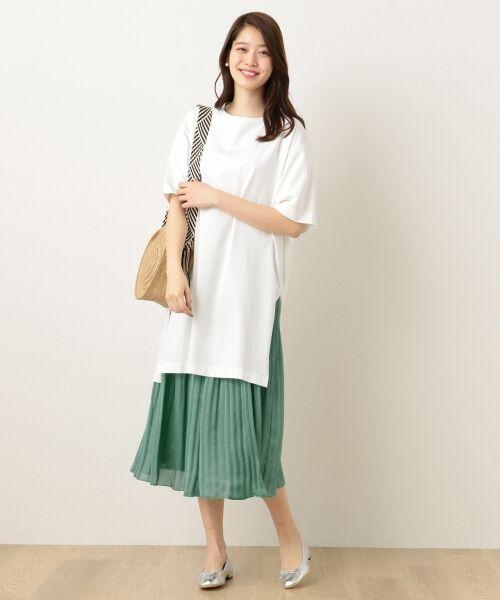 any FAM / エニィファム ミニ・ひざ丈スカート | ヴィンテージサテン プリーツスカート | 詳細16