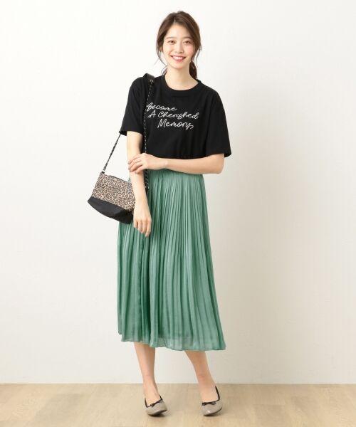 any FAM / エニィファム ミニ・ひざ丈スカート | ヴィンテージサテン プリーツスカート | 詳細17
