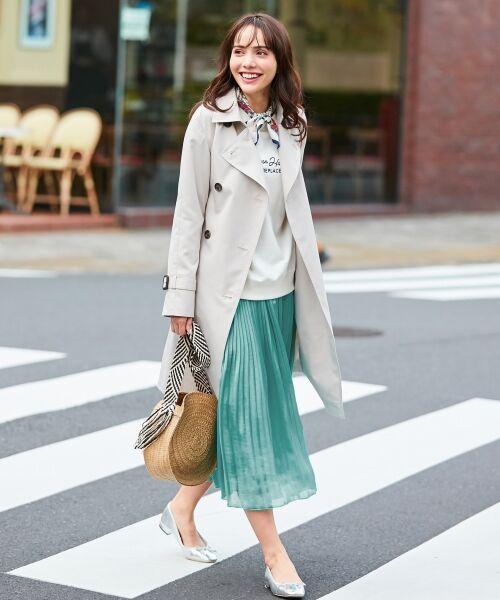 any FAM / エニィファム ミニ・ひざ丈スカート | ヴィンテージサテン プリーツスカート | 詳細15