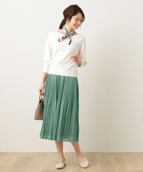 any FAM / エニィファム ミニ・ひざ丈スカート | ヴィンテージサテン プリーツスカート | 詳細19
