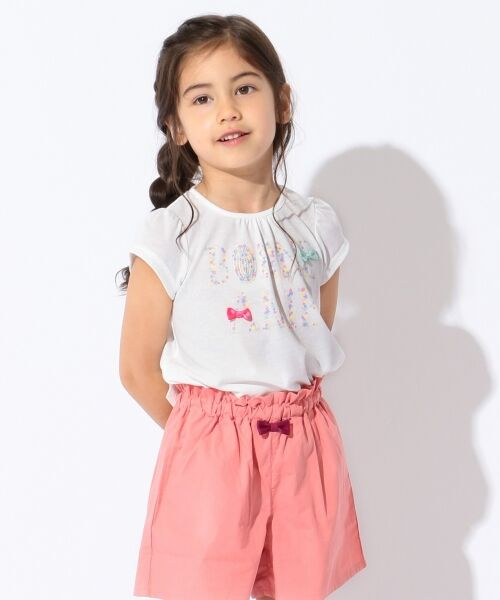 any FAM / エニィファム Tシャツ   【SCHOOL】フラワーロゴ 吸水速乾 Tシャツ(ホワイト系)