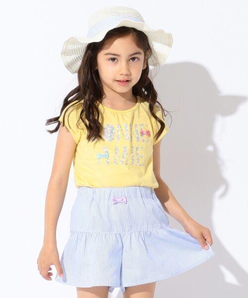 any FAM / エニィファム Tシャツ   【SCHOOL】フラワーロゴ 吸水速乾 Tシャツ(イエロー系)