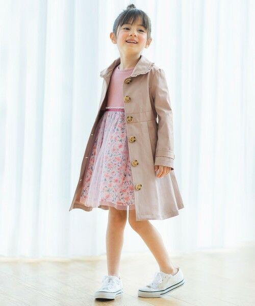 any FAM / エニィファム ミニ丈・ひざ丈ワンピース   花柄ドッキングワンピース   詳細1