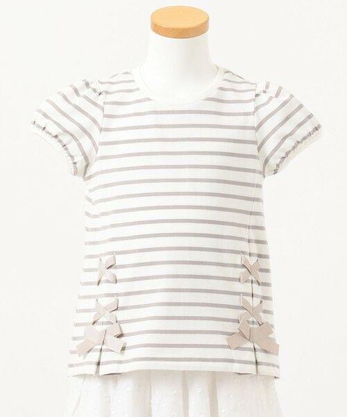 any FAM / エニィファム カットソー | ボーダーレースアップTシャツ | 詳細2