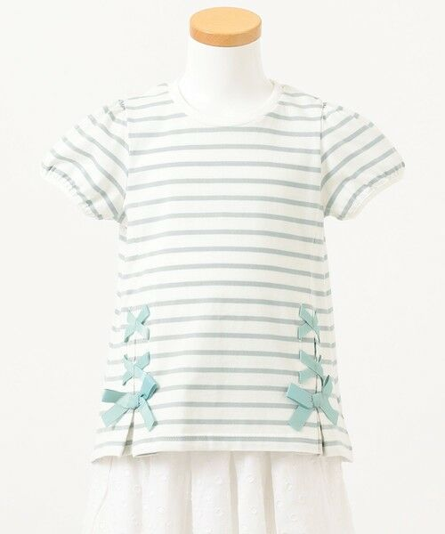 any FAM / エニィファム カットソー | ボーダーレースアップTシャツ | 詳細7
