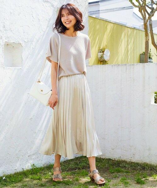 any FAM / エニィファム ミニ・ひざ丈スカート | 【洗える】ダブルプリーツ スカート | 詳細1