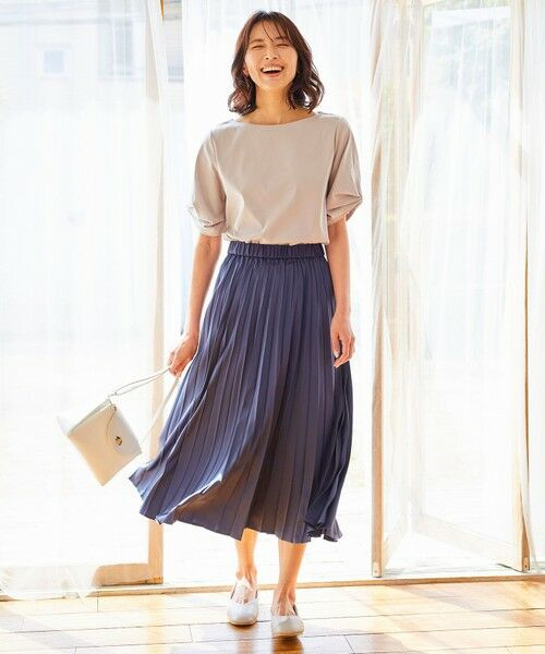 any FAM / エニィファム ミニ・ひざ丈スカート | 【洗える】ダブルプリーツ スカート | 詳細13