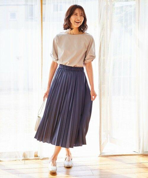 any FAM / エニィファム ミニ・ひざ丈スカート | 【洗える】ダブルプリーツ スカート | 詳細14