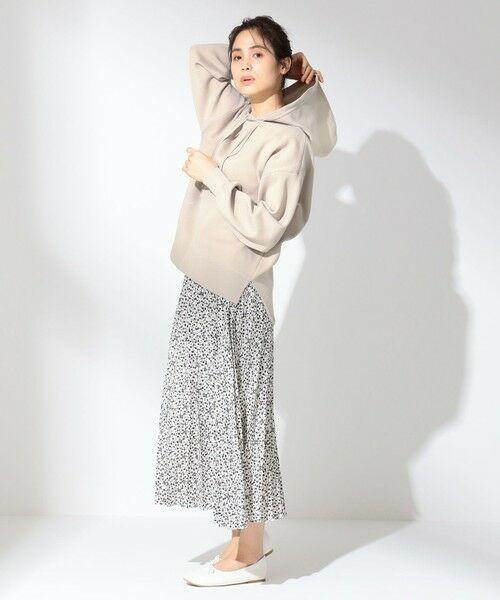 any FAM / エニィファム ミニ・ひざ丈スカート | 【洗える】ダブルプリーツ スカート(ホワイト系5)