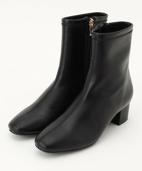 any FAM / エニィファム ブーツ(ロング丈) | 撥水ストレッチミドル丈 ブーツ(ブラック)