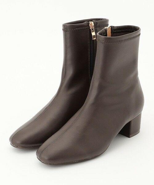 any FAM / エニィファム ブーツ(ロング丈) | 撥水ストレッチミドル丈 ブーツ(ダークブラウン)