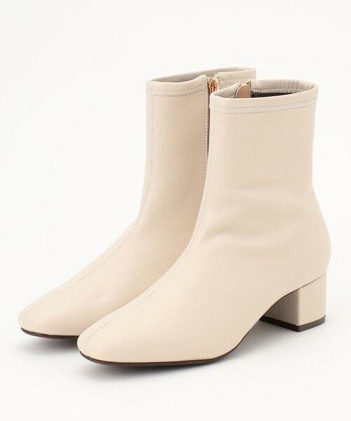 any FAM / エニィファム ブーツ(ロング丈) | 撥水ストレッチミドル丈 ブーツ(アイボリー系)