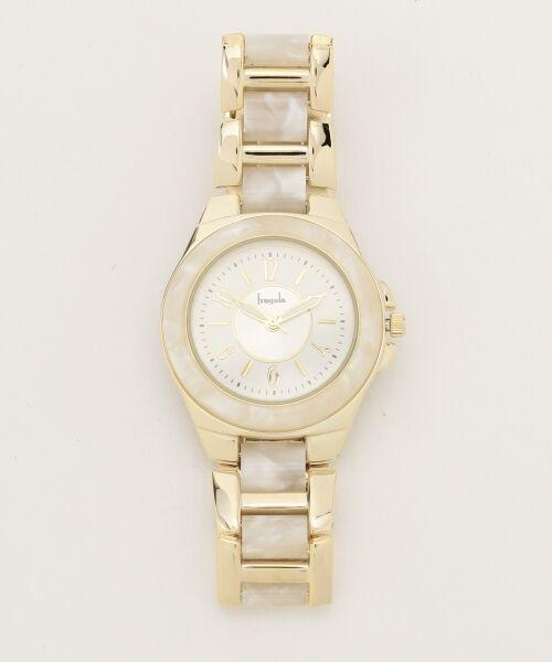 any SiS / エニィスィス 腕時計 | エレガントフレーム ウォッチ(腕時計)(ホワイト系)