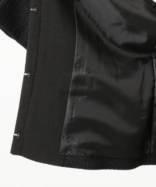 any SiS / エニィスィス ノーカラージャケット | 【セットアップ対応】リップルボーダーストレッチノーカラー ジャケット | 詳細12