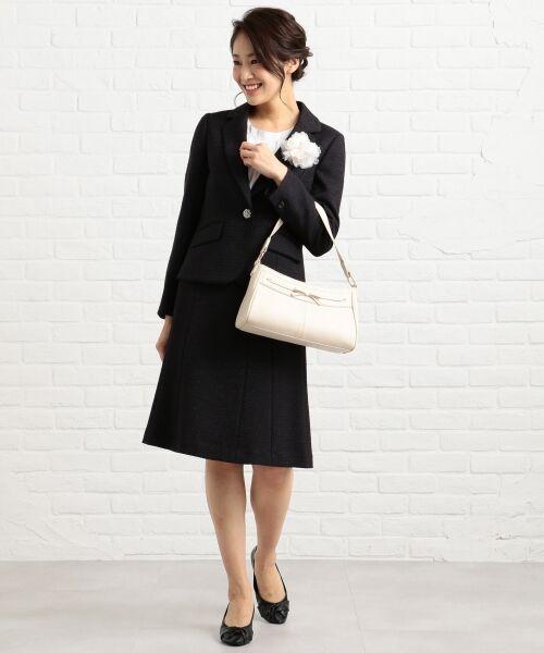 any SiS / エニィスィス ミニ・ひざ丈スカート | 【セットアップ対応】リップルボーダーストレッチ スカート | 詳細1