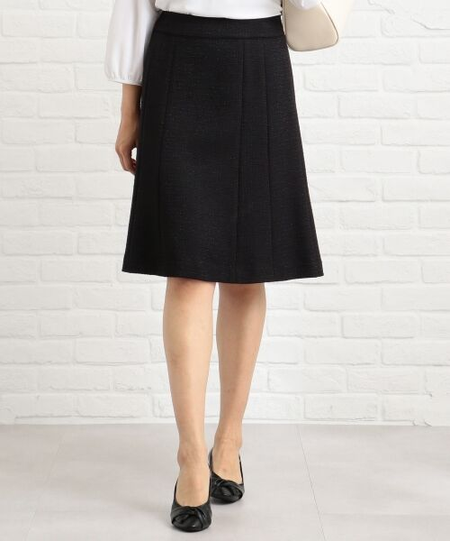 any SiS / エニィスィス ミニ・ひざ丈スカート | 【セットアップ対応】リップルボーダーストレッチ スカート(ブラック系)