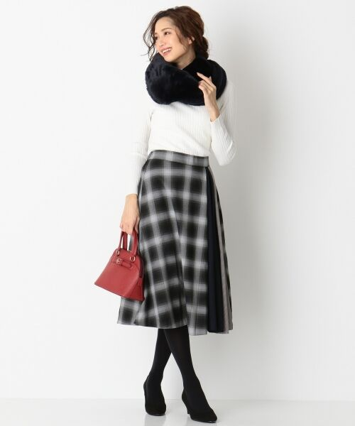 any SiS / エニィスィス ミニ・ひざ丈スカート | 【洗える】チェック柄切り替え スカート | 詳細1